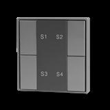VARTON Кнопочная панель 4-х кл. (1 группа), пластиковый корпус, серый