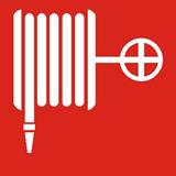 Пиктограмма ППБ 0001 Пожарный кран 105х105 LUNA/MARS 2502001110 Световые Технологии