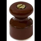 Изолятор фарфор в компл. с саморезами(18,5х24мм) (20 шт /уп) МезонинЪ Коричневый GE70027-04