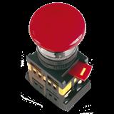 Кнопка AEAL22 'Грибок'с фикс. красный d22мм