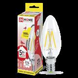 Лампа светодиодная LED E14 5Вт 3000K 450Lm 220В C37 проз. IN HOME ASD. 80px x 80px
