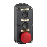 Пост кнопочный ПКЕ 212-3-У3-IP40- красный гриб 150751 КЭАЗ