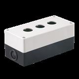 Корпус КП103 для кнопок 3места белый ИЭК