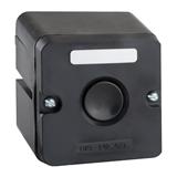 Пост кнопочный ПКЕ 212-1-У3-IP40- черная кнопка 150746 КЭАЗ