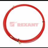 Протяжка кабельная мини УЗК в бухте , стеклопруток, d=3,5 мм 10 м красная 47-1010 REXANT