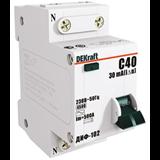 Выключатель авт. диф. тока ДИФ-102 1п+N 25А  30мА  тип AC  х-ка C  4,5кА 16005DEK  SE