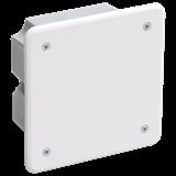 Коробка КМ41001 распаячная для тв.стен 92x92x45мм (с саморезами, с крышкой) ИЭК
