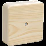 Коробка КМ41212-04 распаячная для о/п 75х75х20мм сосна с контактной группой UKO10-075-075-020-K34 IEK