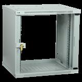 ITK Шкаф LINEA WE 9U 600x450мм дверь стекло серый LWE3-09U64-GF IEK