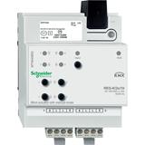SE Merten KNX Актор жалюзи 2-канальный 10А 220V возможность ручного управления DIN-рейка MTN649802 Schneider Electric