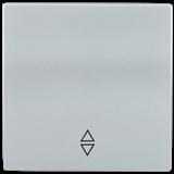 Накладка 1-клавишная BOLERO проходн., серебро
