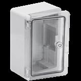 Корпус навесной ЩМПп 350х250х150мм IP65 пластик, с прозрачной дверью