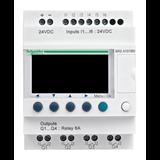 Zelio Logic Интеллектуальное реле компактное ,только язык LADDER, 6вх/4вых, питание =24В SR2A101BD Schneider Electric