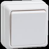 Выключатель 1-клавишный Октава 10А 250В IP20 белый EVO10-K01-10-DC IEK
