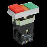 Кнопка управления LAY5-BW8465 'I-O' сдвоенная с подсветкой BBD40-BW-K51 IEK
