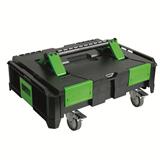 Ящик для инструмента пластиковый ABS 'SysCon S' пустой на колесах 220371 HAUPA
