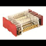 DKC Блок распределительный на DIN рейку с выносной клеммой 4р 160А, 11х7мм 2х8мм 2х9мм 1х12мм BD3160164 ДКС