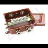 Коробка клеммная КЗНС-08 УХЛ1,5 IP65 с латун вводами zeta30314 Зэта