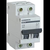 Выключатель автоматический ВА47-29 2п 63А х-ка С 4,5кА GENERICA MVA25-2-063-C ИЭК
