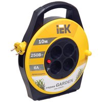 Удлинитель на катушке Garden УК10 с т/з 4 места 2Р/10м 2х0,75 мм2