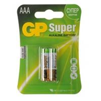Элемент GP AAA  LR03 SUPER ALKALINE 24A-2UE2 BL-2 (мизинец алкалин)