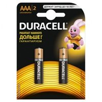 Элемент питания AAA алкалин Duracell LR03-2BL BASIC (2шт в упаковке)