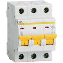 Выключатель ВА47-29 3п 50А х-ка C 4,5кА MVA20-3-050-C IEK