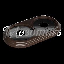Рамка 2-м пластиковая, коричневый, УСАДЬБА GE30702-04