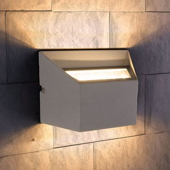Светильник уличный 1615 TECHNO LED OFION DOUBLE алмазный серый