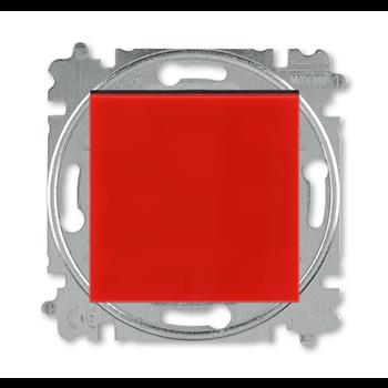 Фото Выключатель одноклавишный Levit ABB красный/дымчатый черный 2CHH590245A6065