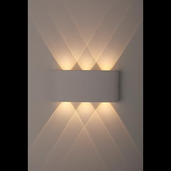 Фото ЭРА WL12 WH Светильник Декоративная подсветка светодиодная 6*1Вт IP 54 белый изображение №3