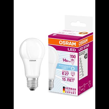 Фото Лампа LED E27 13Вт 4000К 1521Lm 220В груша LED Star 4058075057043 Ledvance/Osram