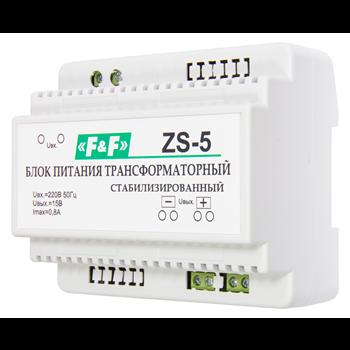 Фото Блок питания ZS-5 трансформаторный, мощность 12Вт, Uвых. 15 В DC, 6 мод., DIN 230В АС