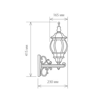 Светильник накладной GL 1011U E27 60Вт IP33 черный