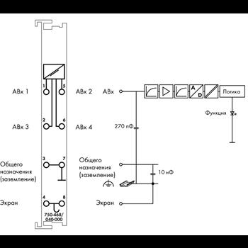 51259085 4-канальный модуль аналогового ввода