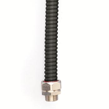 Фото DKC Металлорукав DN 35мм в герметичной ПВХ изоляции, Dвн 35,0 мм, Dнар 41,0,25 м, цвет чёрный