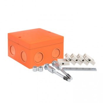 Фото Коробка распаячная PROxima 101х101х62 IP66 оранжевый EKF