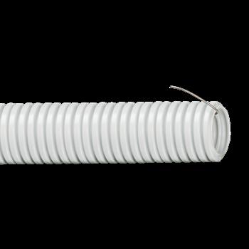 Труба ПВХ d63 гибкая лёгкая с протяжкой ( 15 м) ИЭК