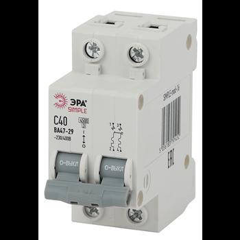 SIMPLE-mod-18 ЭРА SIMPLE Автоматический выключатель 2P 63А (C) 4,5кА ВА 47-29 (6/90/1800)
