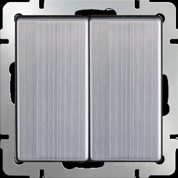 Фото Выключатель 2кл (глянцевый никель) / WL02-SW-2G/ a028844