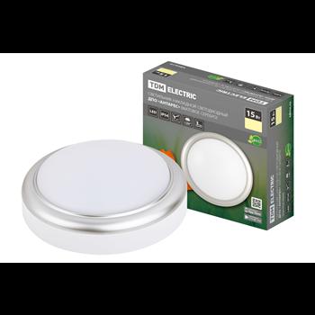 Светильник накладной LED ДПО Антарес 15Вт 4000K IP54 D180 мат. серебро