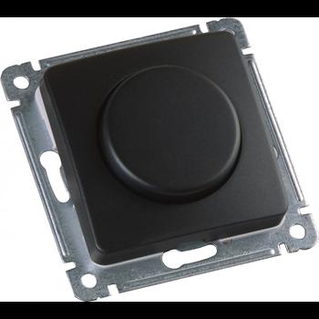 Черный Светорегулятор диммер СУ, поворотно-нажимного типа, механизм ДС-315-472-08 HEGEL