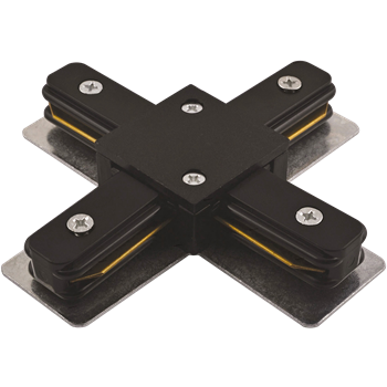 Коннектор PTR CX-BL X-образный черный IP40 однофазный