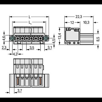 STIFTL.CC M.FS U.GF 3,5MM 3-P.L-GRAU