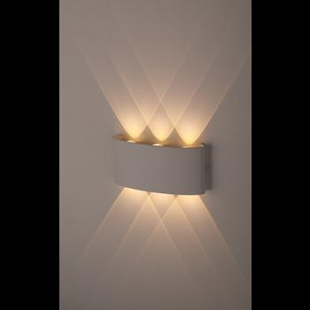 Фото ЭРА WL12 WH Светильник Декоративная подсветка светодиодная 6*1Вт IP 54 белый
