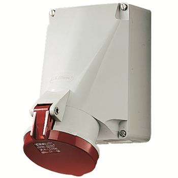 63A5п6ч400B Розетка настенная термостойкие держатели никелированные контакты IP44 21253A Mennekes