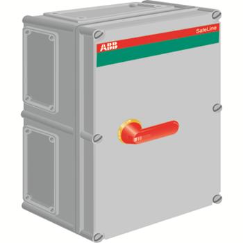 OT16 Рубильник в боксе ОТ160ЕFCC3A до 160A(АС23) 3-х полюсный, 1НО+1Н З доп. контакт, красно-жел