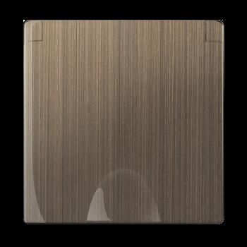 Фото Накладка для розетки IP44 с крышкой (бронзовый) / WL12-SKGSC-IP44-CP / a037204