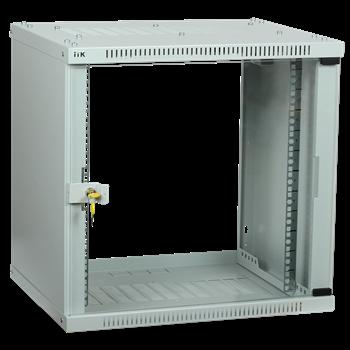 Фото ITK Шкаф LINEA WE 9U 600x600мм дверь стекло серый LWE3-09U66-GF IEK