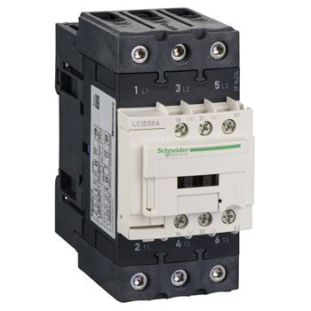 Фото SE Contactors D Контактор 3P Everlink AC3 440В 50A катушка управления 220В AC 50/60Гц (LC1D50AM7TQ)